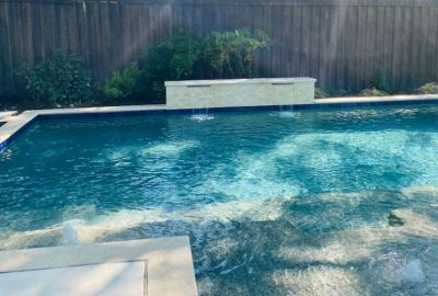 Geometric Pool with sheer descents