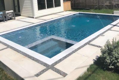 Custom pool and spa