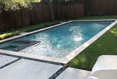 Geometric Pool and Leveled Spa