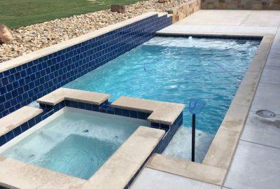 Custom Geometric Pool & Spa