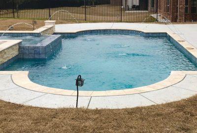Geometric Deck Jet Pool and Spa