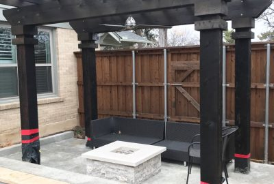 Firepit with Pergola