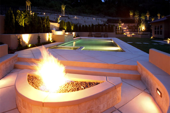 Grill Stations, Fire Pits, Decking, & Spas