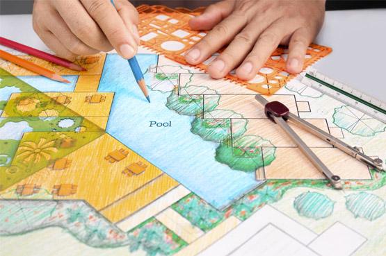 Blueprint of Large Pool