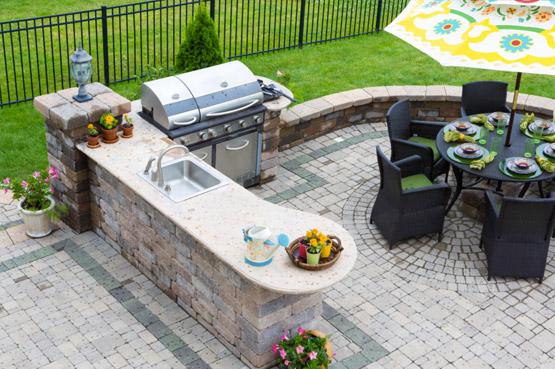 Backyard Grilling Station