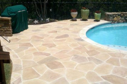 Concrete Pool Deck Stamped