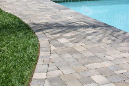 Pool Decking with Concrete Pavers