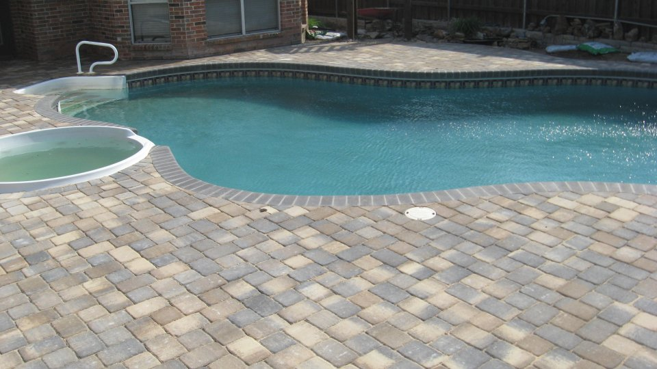 Welcome to the blue lagoons pool service dallas pool for Best pavers for pool deck