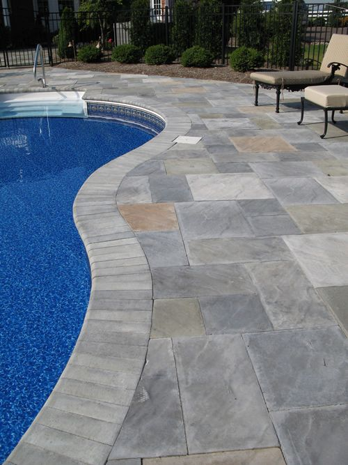 Stamped Concrete Around Pool Adorable Stamped Concrete Pool Decking2  The Blue Lagoons