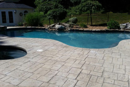 Stamped Concrete Pool Decking3