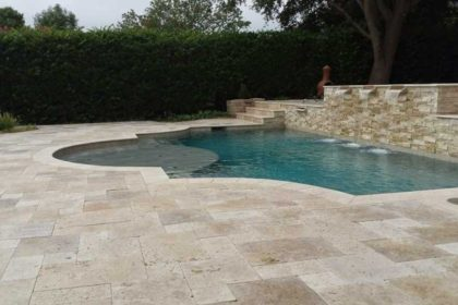 Travertine Pool Decking 1