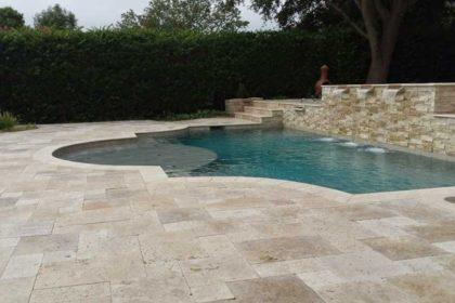 Travertine Pool Decking 1
