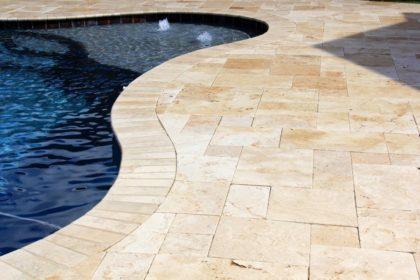 Travertine Pool Decking 3