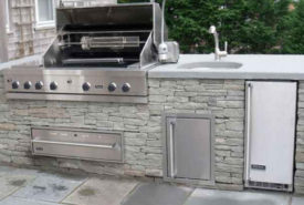 Stacked Stone Outdoor Kitchen New Stacked Stone Grilling Station with Sink 2 for Outdoor Grill and