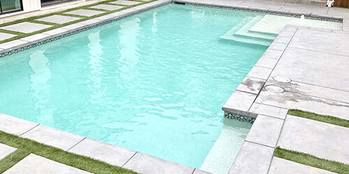 Geometric Pool with steps